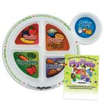 Custom Child's Meal And Portion Plate With Educational Card
