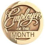 Custom Round Employee Of The Month Lapel Pin With Presentation Card