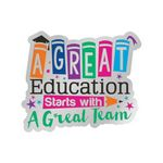 Custom A Great Education Starts With A Great Team Lapel Pin With Presentation Card