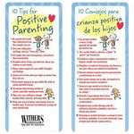 Custom 10 Tips For Positive Parenting Two-Sided Bilingual Glancer - Personalization Available