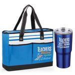 Custom Teachers Believe, Children Achieve Traveler Tote Bag & Timber Travel Tumbler Combo