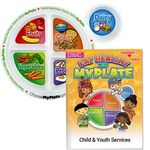 Custom MyPlate Preschool Portion Meal Plate With Activities Book - Personalization Available