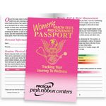 Custom Women's Health Tests And Screenings Passport - Personalization Available