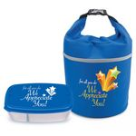 Custom For All You Do We Appreciate You Bellmore Cooler Lunch Bag & Food Container Combo