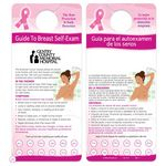 Custom Step-By-Step Breast Self Exam Bilingual Punch-Out Shower Card - Personalization Available