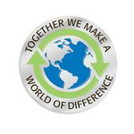 Custom Together We Make A World Of Difference Lapel Pin With Presentation Card