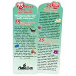75 Ways To Make Your Heart Healthy Deluxe Die-Cut Bookmark - Personalized