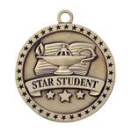 Custom Star Student Gold Academic Medallion