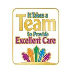 Custom It Takes A Team To Provide Excellent Care Lapel Pin With Presentation Card