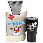 Custom There's Snowbody Like You! Deluxe Ice Scraper Mitt & Tumbler Holiday Gift Set