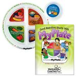 Custom Child's Portion Meal Plate With Educational Activities Book - Personalization Available