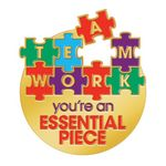 Custom Teamwork You're An Essential Piece Lapel Pin With Presentation Card