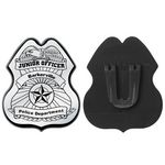 Custom Silver Junior Officer Plastic Badge - Personalization Available