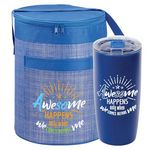 Custom Awesome Happens Only When We Comes Before Me Brookville Barrel Lunch Cooler & Sierra Tumbler Gift Co