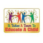 Custom It Takes A Team To Educate A Child Lapel Pin With Presentation Card