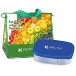 Custom Nutrition Lunch Bag & Food Container Combo - Personalization Available