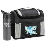 Custom Believe You Can & You Will Bayville Lunch/Cooler Bag & Essex Water Bottle Combo