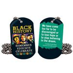 Custom Black History Remember, Educate, Celebrate Laminated Tag With 24