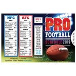 Custom 2018 Pro Football Season Wallet Size Schedule - Personalization Available