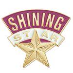 Custom Shining Star Lapel Pin With Presentation Card