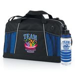 Custom TEAM Together Everyone Achieves More Northport Duffel Bag & Fresno Fruit Infuser Water Bottle