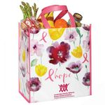 Floral/Hope Non-Insulated Laminated Eco-Shopper Tote Bag Plus Personalization