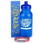 Custom Field Day Best Day Ever Water Bottle, Bracelet, & Ribbon Combo