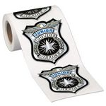Custom Junior Police Officer Stickers-On-A-Roll