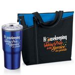 Custom Housekeeping Taking Pride In The Service We Provide Tumbler & Tote Bag Gift Combo