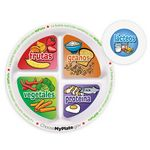 Custom MyPlate Preschool Portion Meal Plate With Card (Spanish)