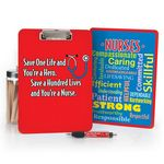 Save One Life And You're A Hero Save A Hundred Lives And You're A Nurse Clipboard & Pen Gift Set