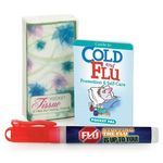 Custom Tissue Pack, Cold & Flu Prevention Pocket Pal, & Hand Sanitizer Gift Combo - Personalization Availab