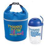 Custom Thanks For All You Do Salad Shaker & Bellmore Cooler Lunch Bag Combo