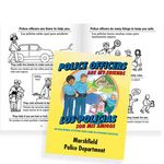 Custom Police Officers Are My Friends Educational Activities Book (Bilingual) - Personalization Available