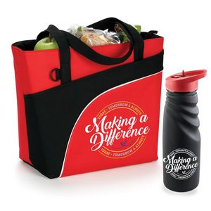 Making A Difference Today, Tomorrow & Always Tahoe Grip Water Bottle & Harvard Lunch Cooler/Bag Comb