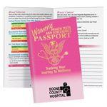 Custom Women's Health Tests and Screenings Passport Pamphlet