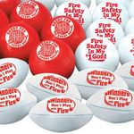 Fire Safety Mini Sports Balls 30-Piece Assortment Pack