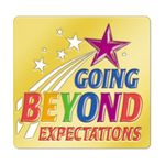 Custom Going Beyond Expectations Lapel Pin with Presentation Card