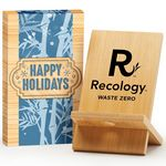 Custom Bamboo Phone/Tablet Holder In Holiday Gift Box - Personalization Available
