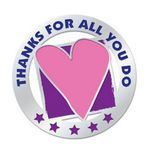 Custom Thanks For All You Do Lapel Pin With Presentation Card