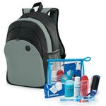 Custom 8-Piece Backpack & Hygiene Kit Combo (Gray)