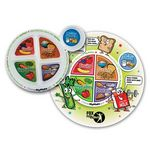 Custom MyPlate Child's Round Laminated Placemat & Child's Portion Plate Combo - Personalization Availab