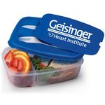 Custom 2-Section Food Container With Utensils - Personalization Available