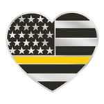 Custom The Thin Gold Line Heart-Shaped Lapel Pin with Presentation Card