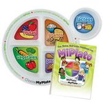 Custom Spanish-Language MyPlate Child's Portion Meal Plate With Educational Activities Book