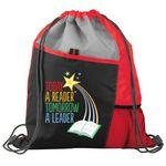 Custom Today A Reader, Tomorrow A Leader Drawstring Backpack