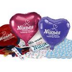 Custom Nurses Celebration Pack W/Balloons, Buttons, Mints, Stickers, & Posters