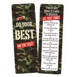 Do Your Best On The Test! Camouflage Bookmark