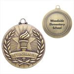 Custom Attendance Gold Academic Medallion - Personalized