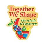 Custom Together We Shape The Minds Of Tomorrow Lapel Pin With Presentation Card